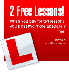 2 Free Lessons when you buy 10 lessons